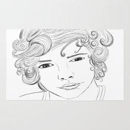 Harry Styles Cartoon Rug