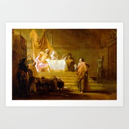 Nikolaus Knüpfer Solon before Croesus Art Print