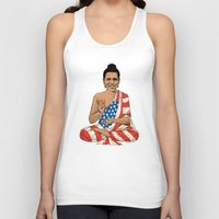 obama Tank Tops featuring Buddha Obama by Jack Coltman