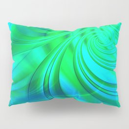 Infinite Loop (green-blue) Pillow Sham