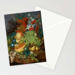 """Jan van Os  """"Fruit still life with a mouse on a ledge"""" Stationery Cards"""