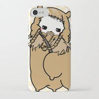 fili iPhone & iPod Cases featuring Dwarpacas(Fili) by Lady Cibia