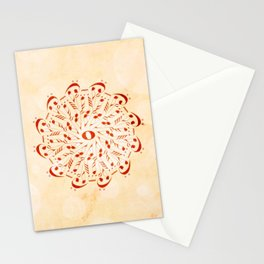 Watercolor music mandala Stationery Cards