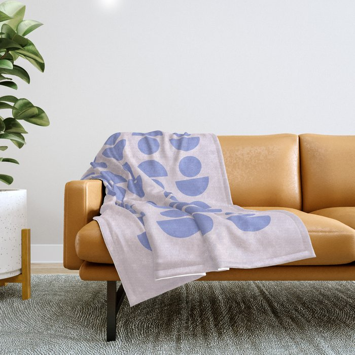 Shapes in Periwinkle Throw Blanket