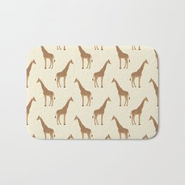 Giraffe animal minimal modern pattern basic home dorm decor nursery safari patterns Bath Mat