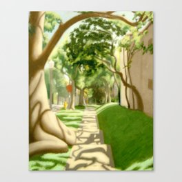 Side Street Traffic  Canvas Print