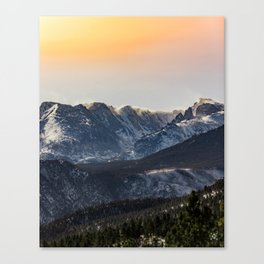 Sunset on the Rock(ies) Canvas Print