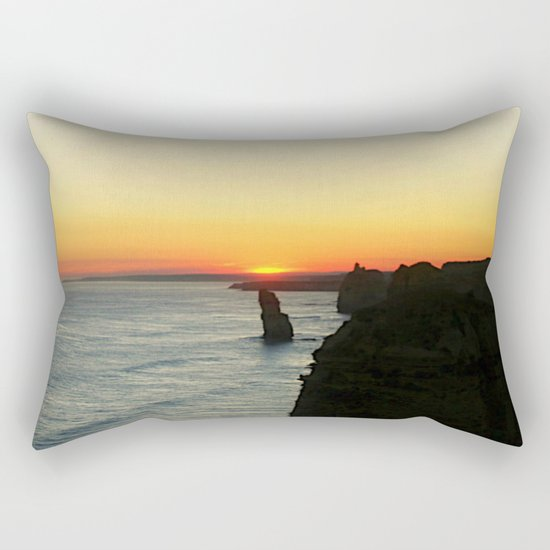 Sunset over the Great Southern Ocean Rectangular Pillow