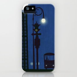 Last Stop For The Night Bus iPhone Case