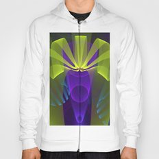 Modern abstract in 3-d Hoody