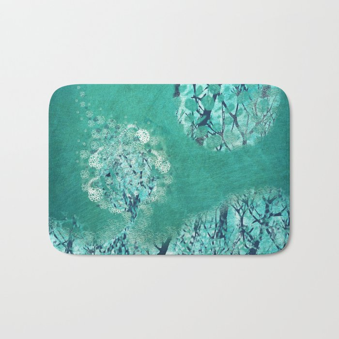 Frosty Moon Bath Mat