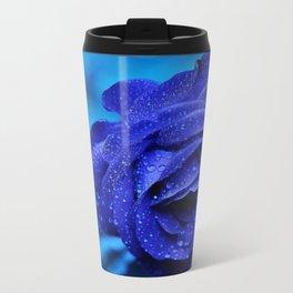 Blue rose Metal Travel Mug