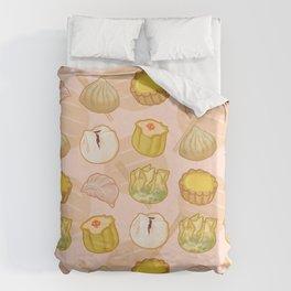Dimsum everywhere! [peach] Duvet Cover