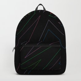 Geometrical zig zag abstract lines Backpack