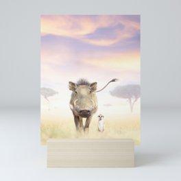 Warthog & Meerkat Mini Art Print