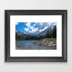 Island in the Alps Framed Art Print