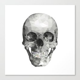 Skull Plain White Canvas Print
