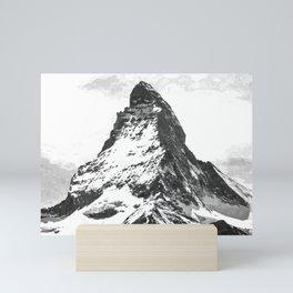 Black and White Mountain Mini Art Print
