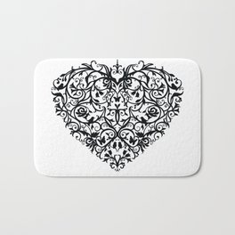 Intricate Heart- Monochrome Bath Mat