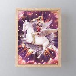 Andora: Drag Queen Riding a Unicorn Framed Mini Art Print