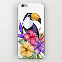 toucan iPhone & iPod Skins featuring Toucan by Julia Badeeva