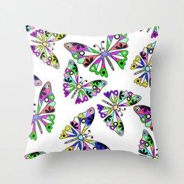 Butterflies, summer Throw Pillow