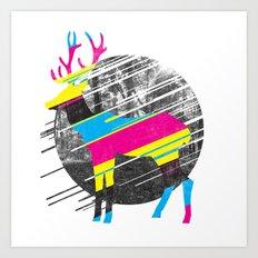 CMYK Deer Art Print