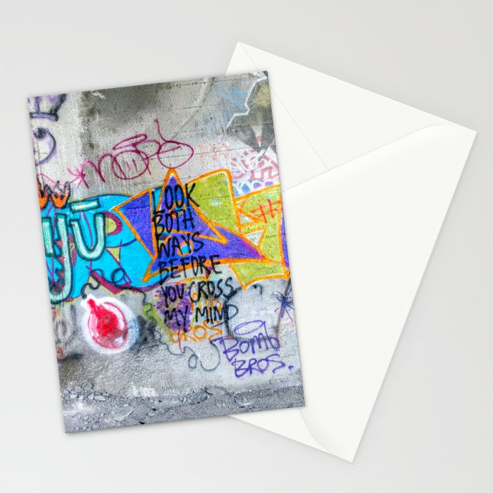 Look Both Ways Stationery Cards