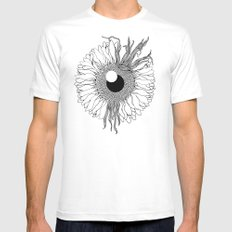 I See Beauty Until the End White MEDIUM Mens Fitted Tee