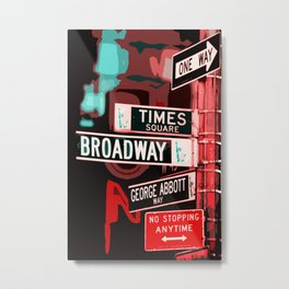 Streets of New York Metal Print