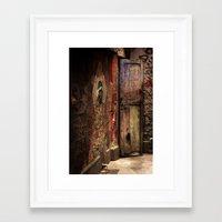 door Framed Art Prints featuring Door by Studio Laura Campanella