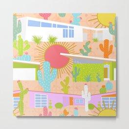 Midcentury Modern Desert Neighborhood Metal Print