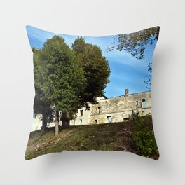 Abbey in South West of France Throw Pillow