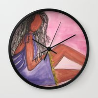 legs Wall Clocks featuring Legs by Robin's Illustrations