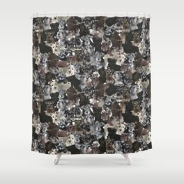Schnauzer Collage Realistic Shower Curtain