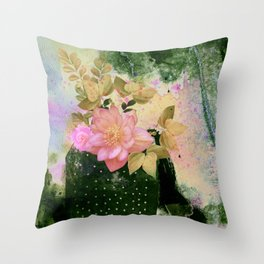 bouquet and vase Throw Pillow