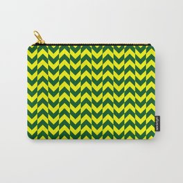 dark green and yellow chevron Carry-All Pouch
