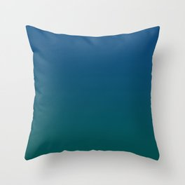 Blue Classic Storm Green Dark Ombre Gradient Pattern Trendy Color of Year 2020 Throw Pillow