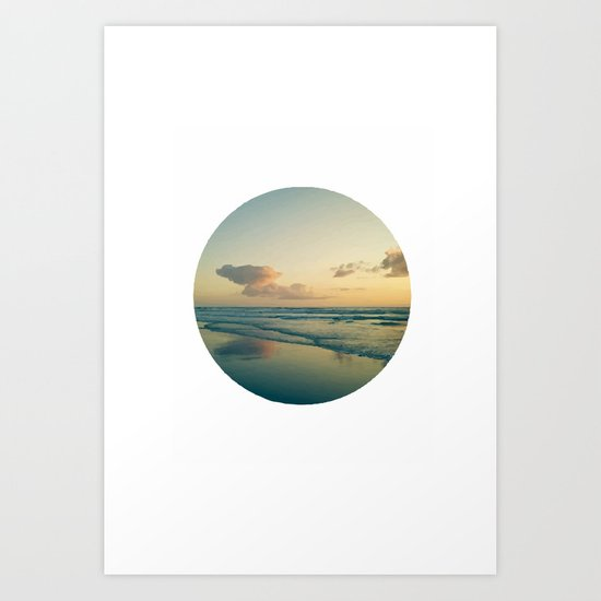 Landscape round Art Print