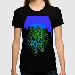 Mod Trees Blue & Green T-shirt