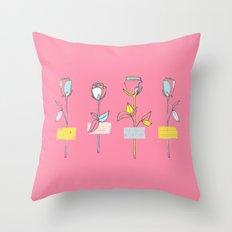 Rosewall (on pink) Throw Pillow
