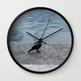 Beautiful Black Bird Wall Clock