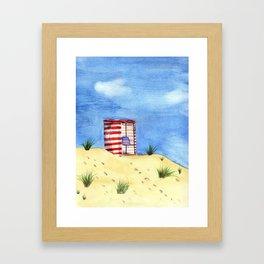 Summer Day at the Beach Framed Art Print