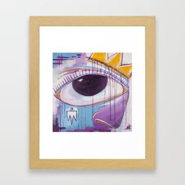 Untitled Eye & Crown Framed Art Print