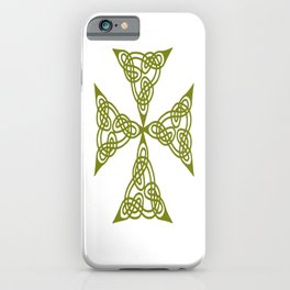 Lindisfarne St Johns Knot Grunge iPhone Case