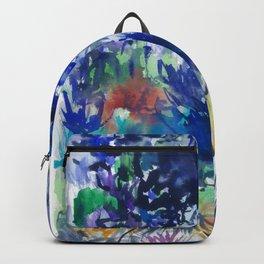 Watercolor wetland landscape Backpack