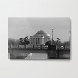 Jefferson Memorial on Christmas 2017 Metal Print