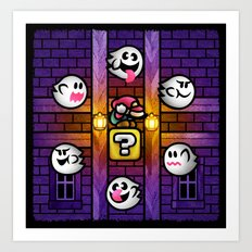 Boos in the Haunted House Art Print