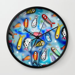 Fishes Ocean current Wall Clock
