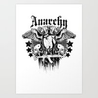anarchy Art Prints featuring Anarchy by Tshirt-Factory